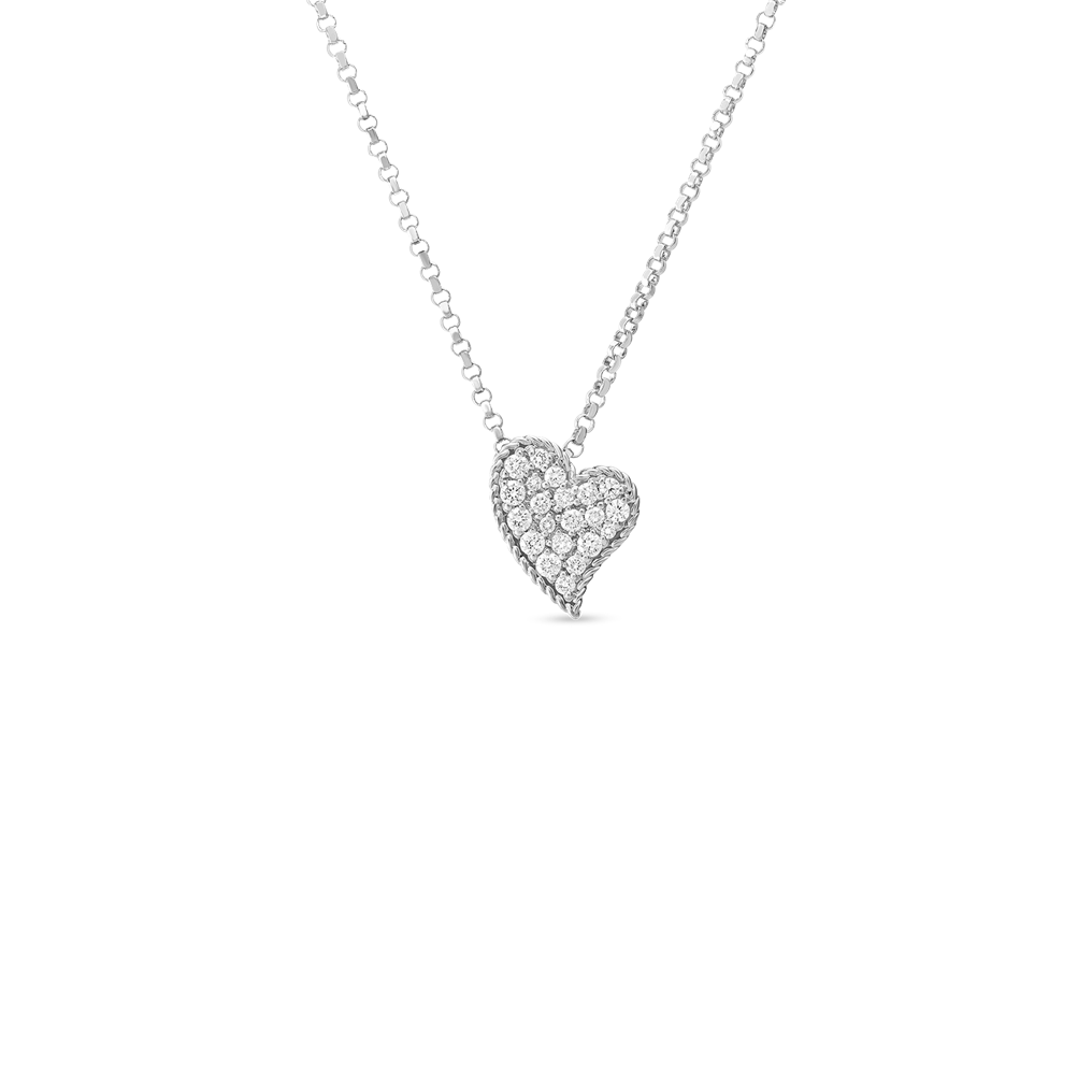 PRINCESS DIAMOND HEART NECKLACE