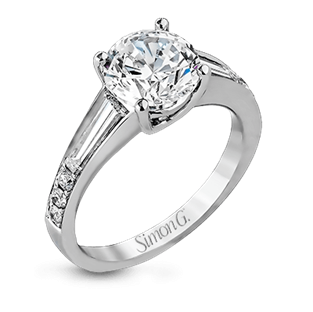 18K GOLD WHITE MR2219 ENGAGEMENT RING
