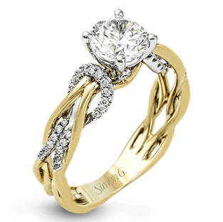 18K2T Diamond Ring