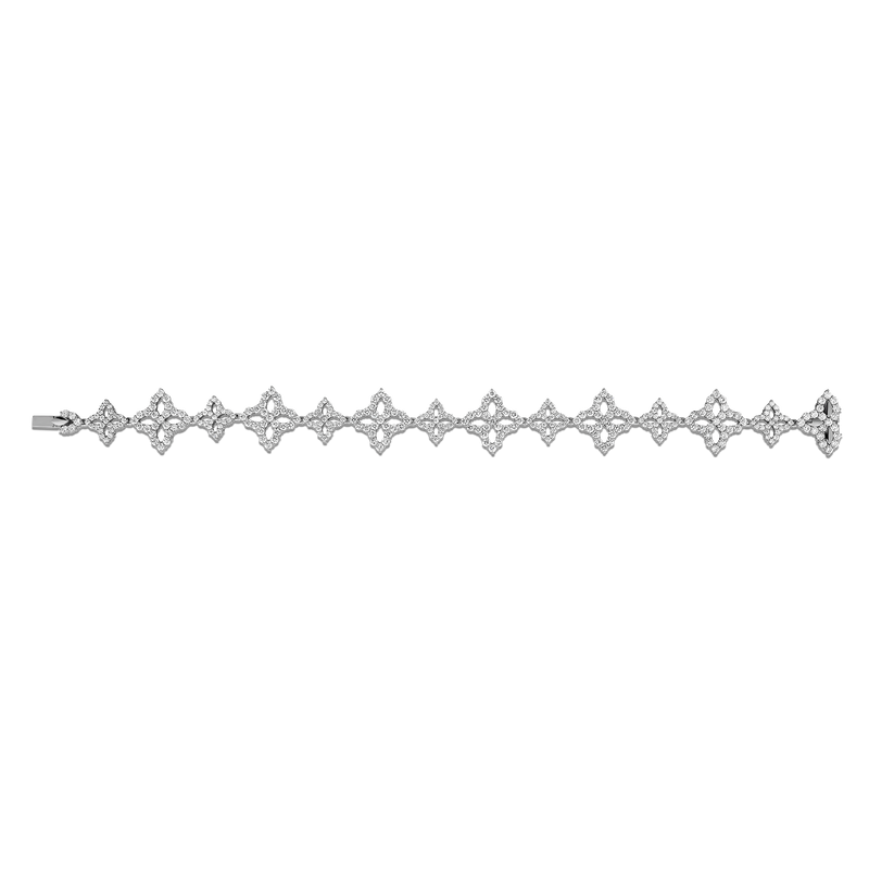 PRINCESS FLOWER LINK BRACELET WITH DIAMONDS