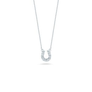 HORSESHOE PENDANT WITH DIAMONDS
