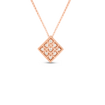 18K GOLD & DIAMOND BYZANTINE BAROCCO SMALL SQUARE PENDANT