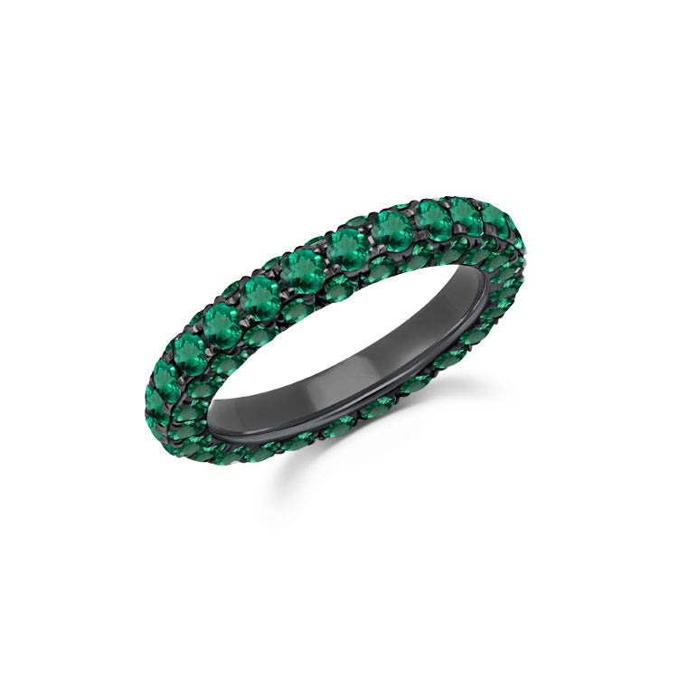 Emerald 3 Sided Band Ring