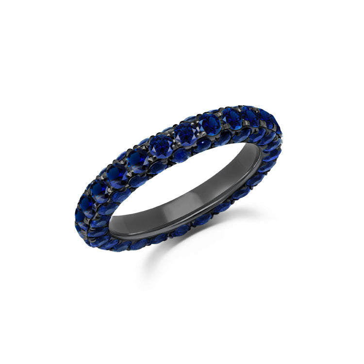 Sapphire 3 Sided Band Ring