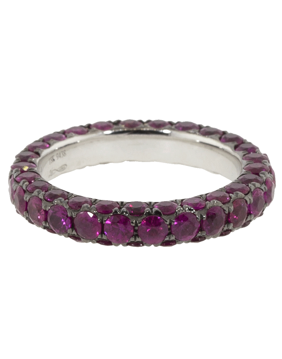 Ruby 3 Sided Band Ring