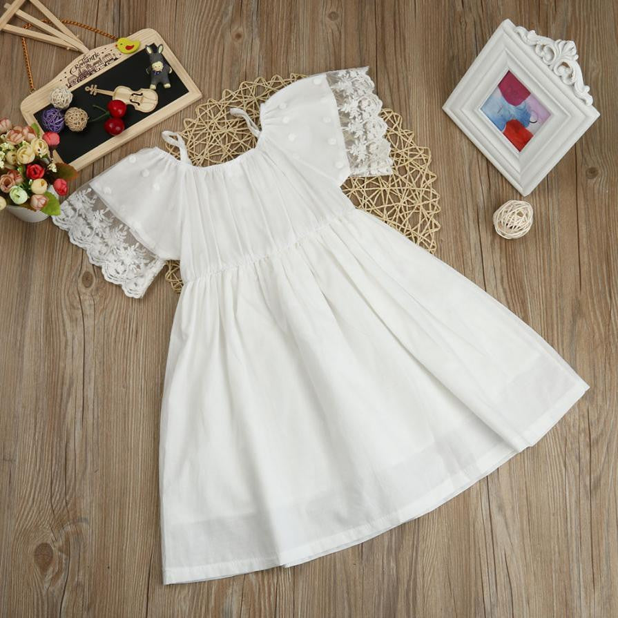 White Stylish Girls Dress