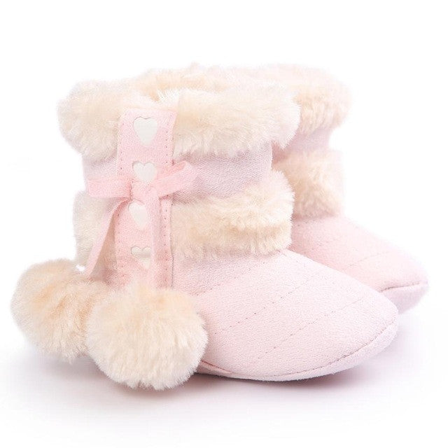 Stylish Heart Baby Girls Shoes (2 colors)