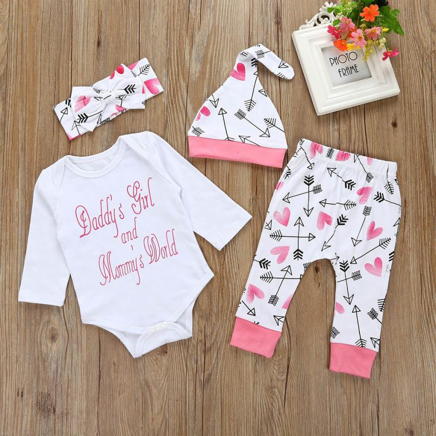 Hearts & Arrows Baby Girl Outfit Set