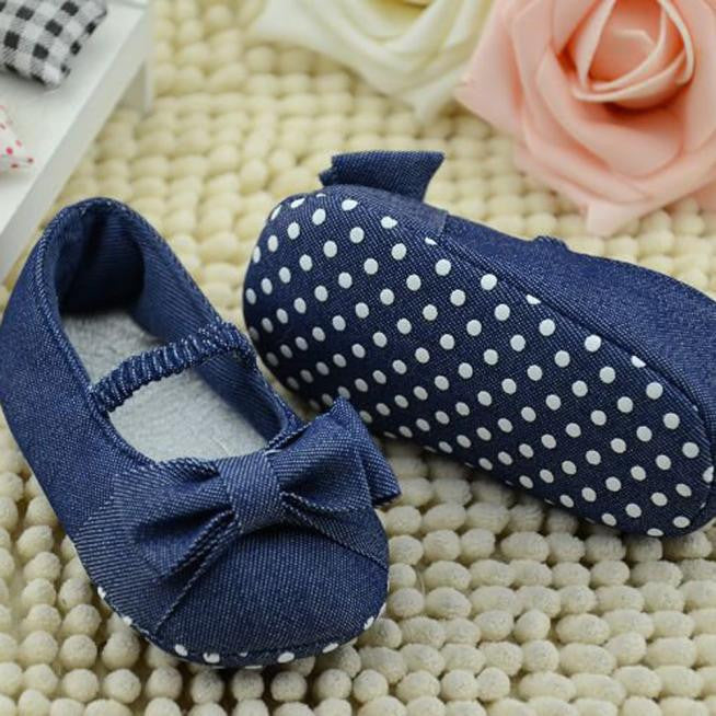 Bowknot Denim Baby Girls Shoes