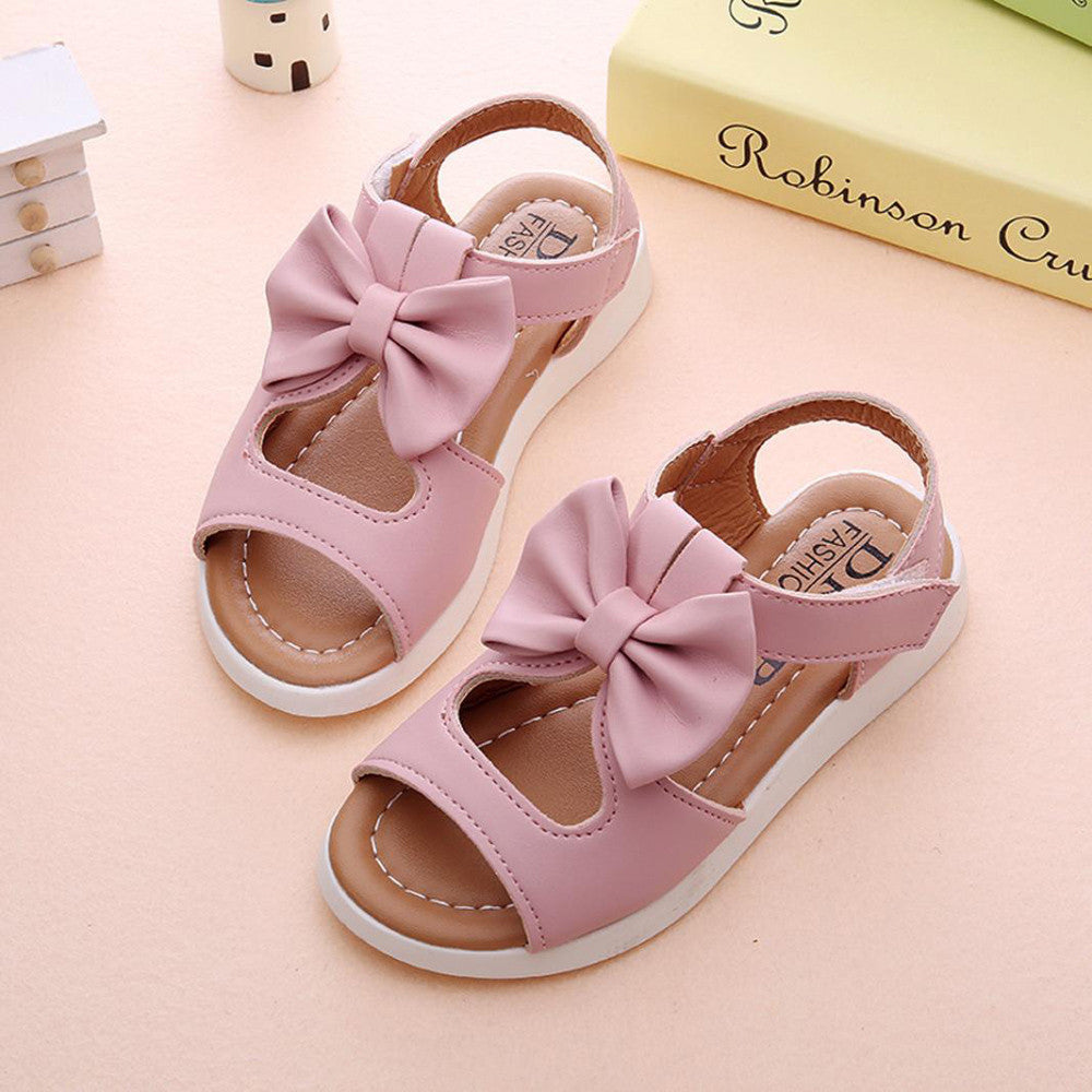 Bow-knot Girls Sandals (3 colors)