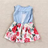 Flower Denim Girls Dress