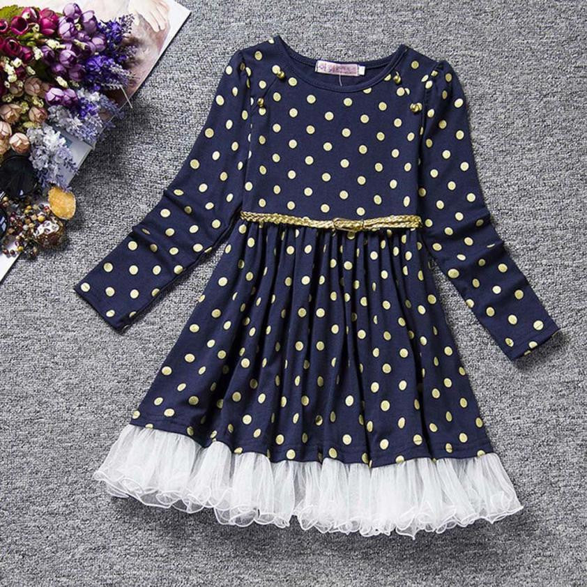 Dot Print Girls Dress (2 colors)