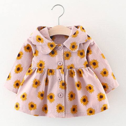 Sunflowers Baby Girls Jacket  (2 Colors)