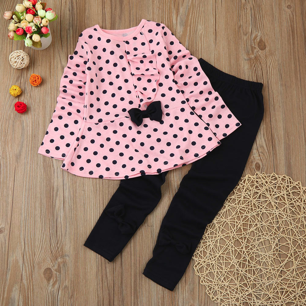 Dots Girls Outfit Set (2 colors)