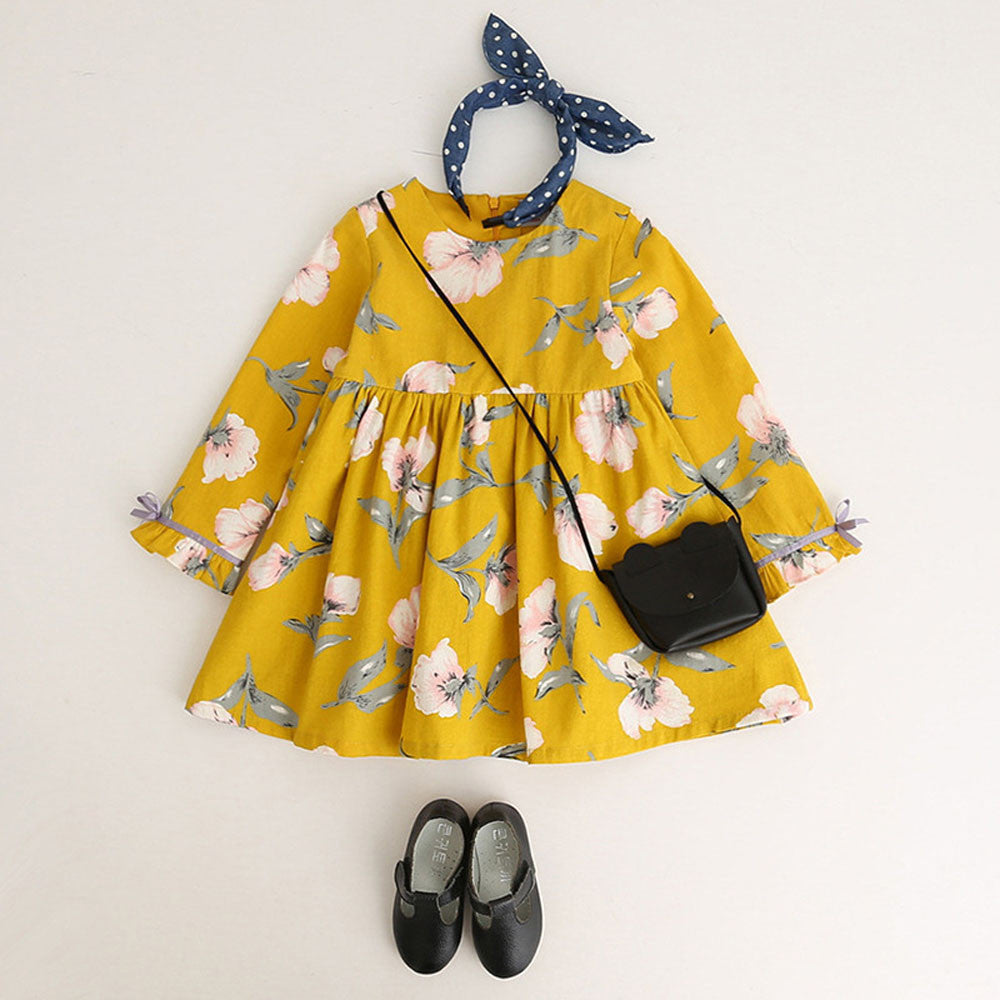 Floral Girls Dress (2 colors)
