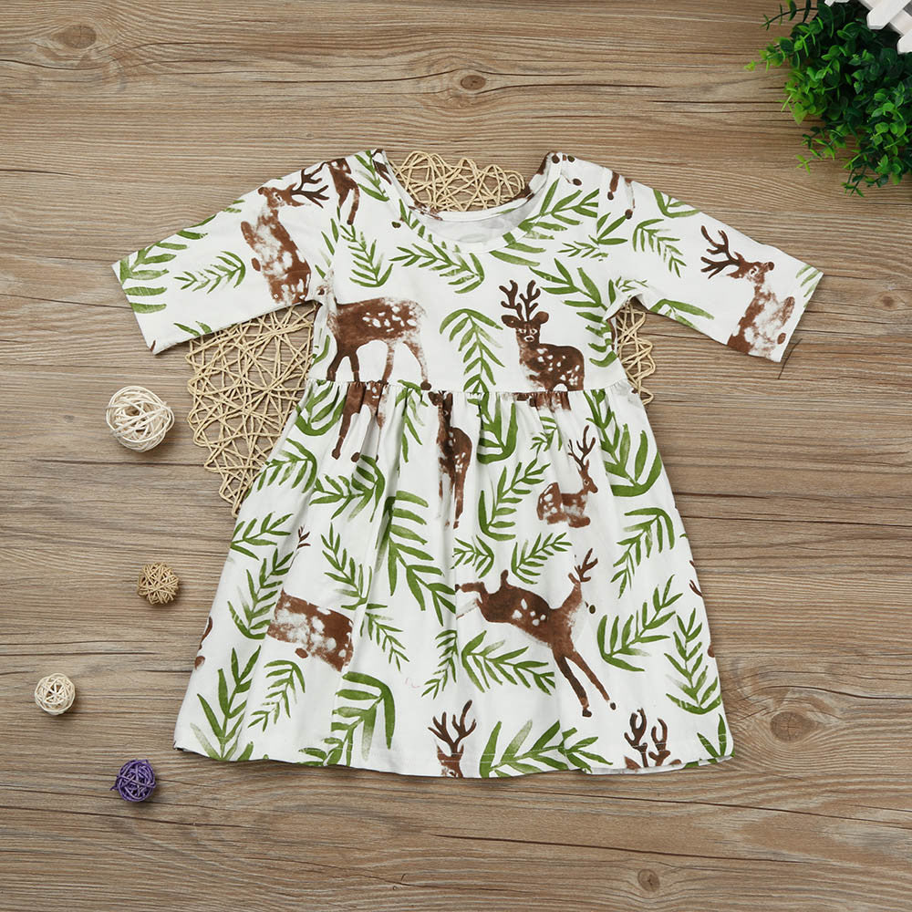 Casual Deer Girls Dress
