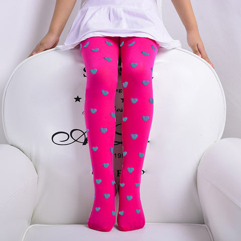 Candy Heart Girls Tights