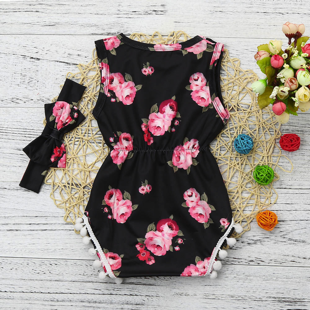 Stylish Floral Baby Girls Outfit