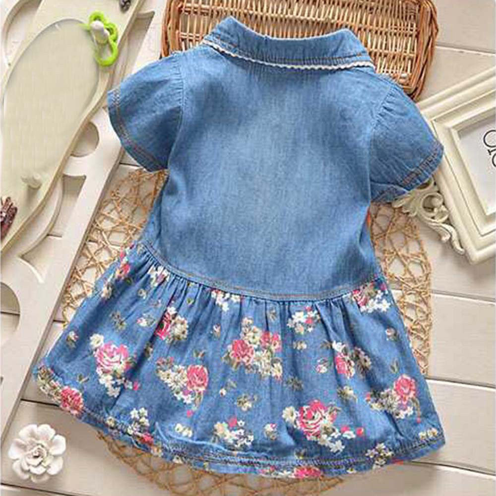 Jean Floral Baby Girls Dress