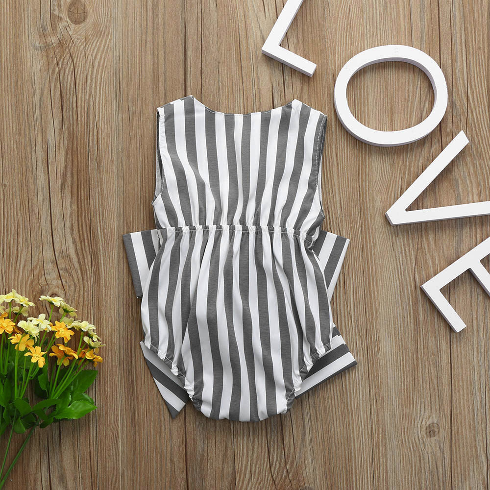 Stylish Striped Baby Girls Bodysuit