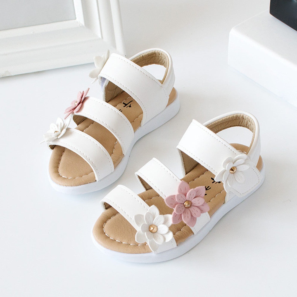 Summer Flowers Girls Sandals (2 colors)