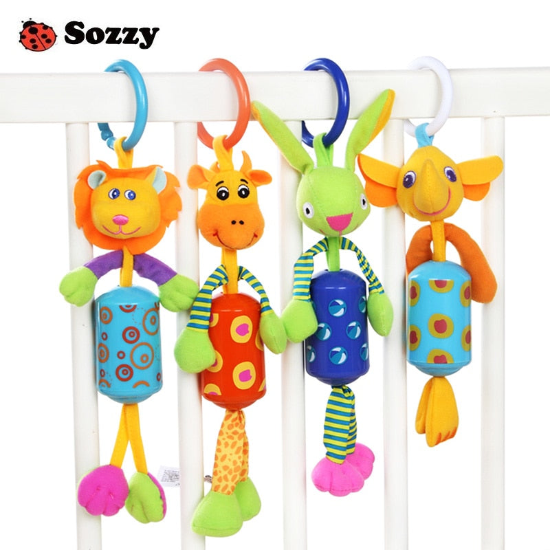 Hanging Bell Rattle Toys (6 colors & 7 Styles)