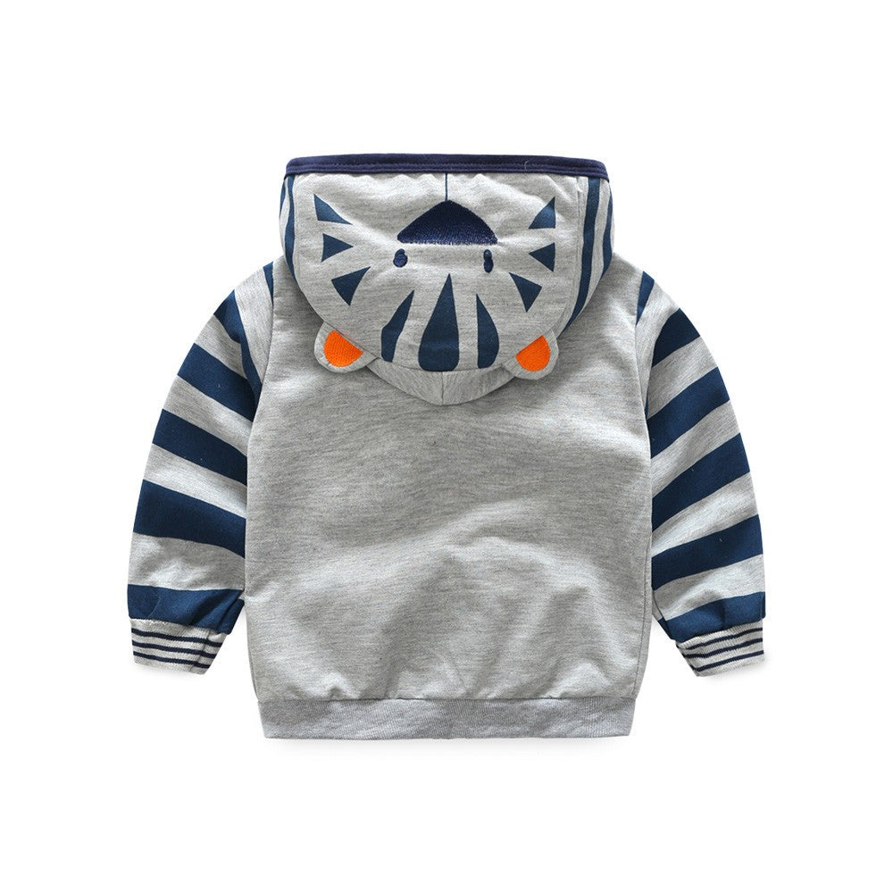 Boys Zipper Animal Jacket