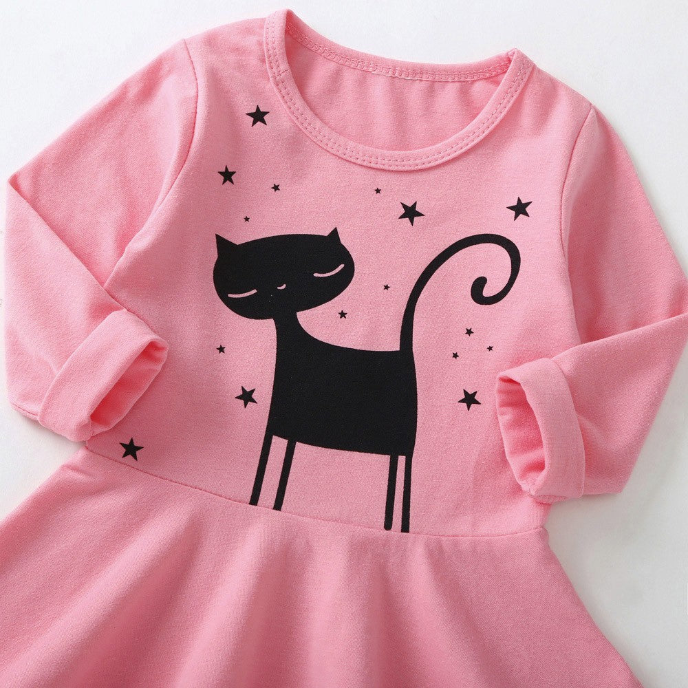 Kitten Baby Girls Dress (2 Colors)