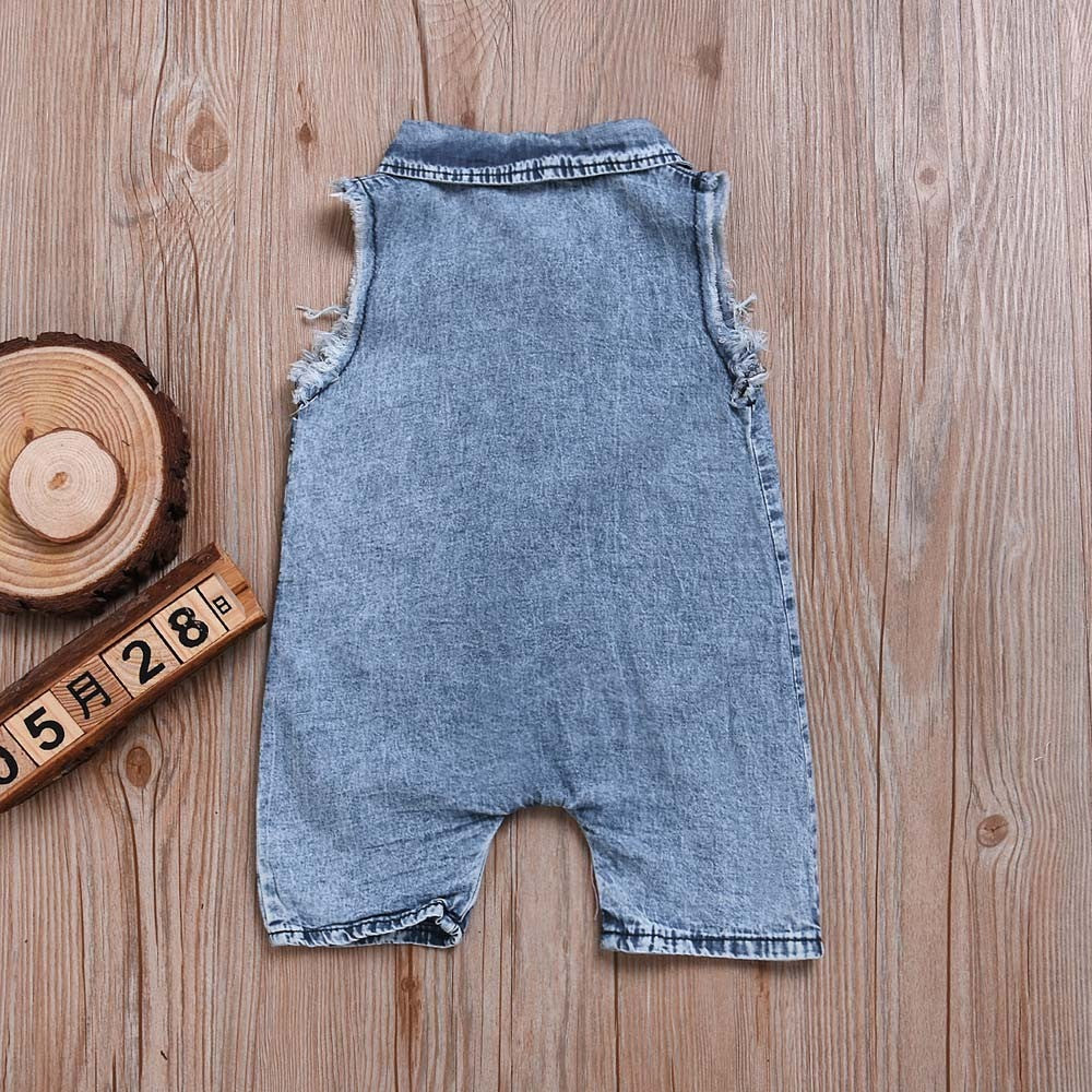 Sleeveless Jean Baby Boys Outfit