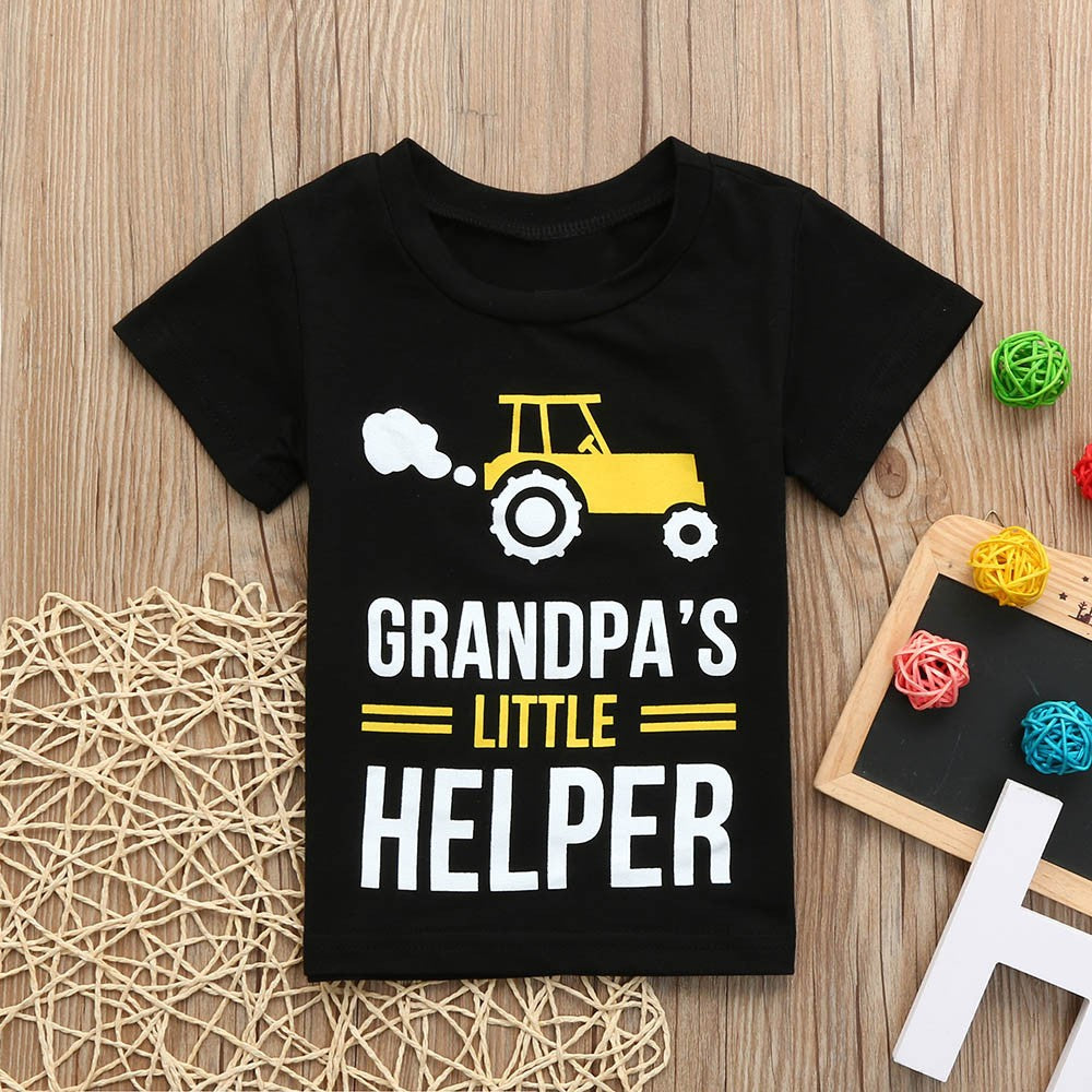 Boys T-shirt Grandpa's Little Helper