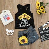 Sunflowers Baby Girls Outfit Set