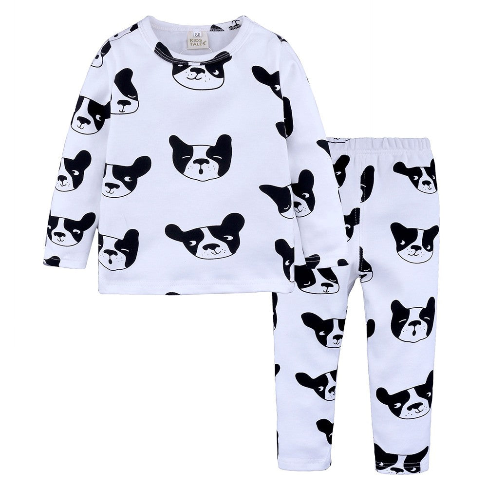 Cute Dog Girls Sleepwear Set