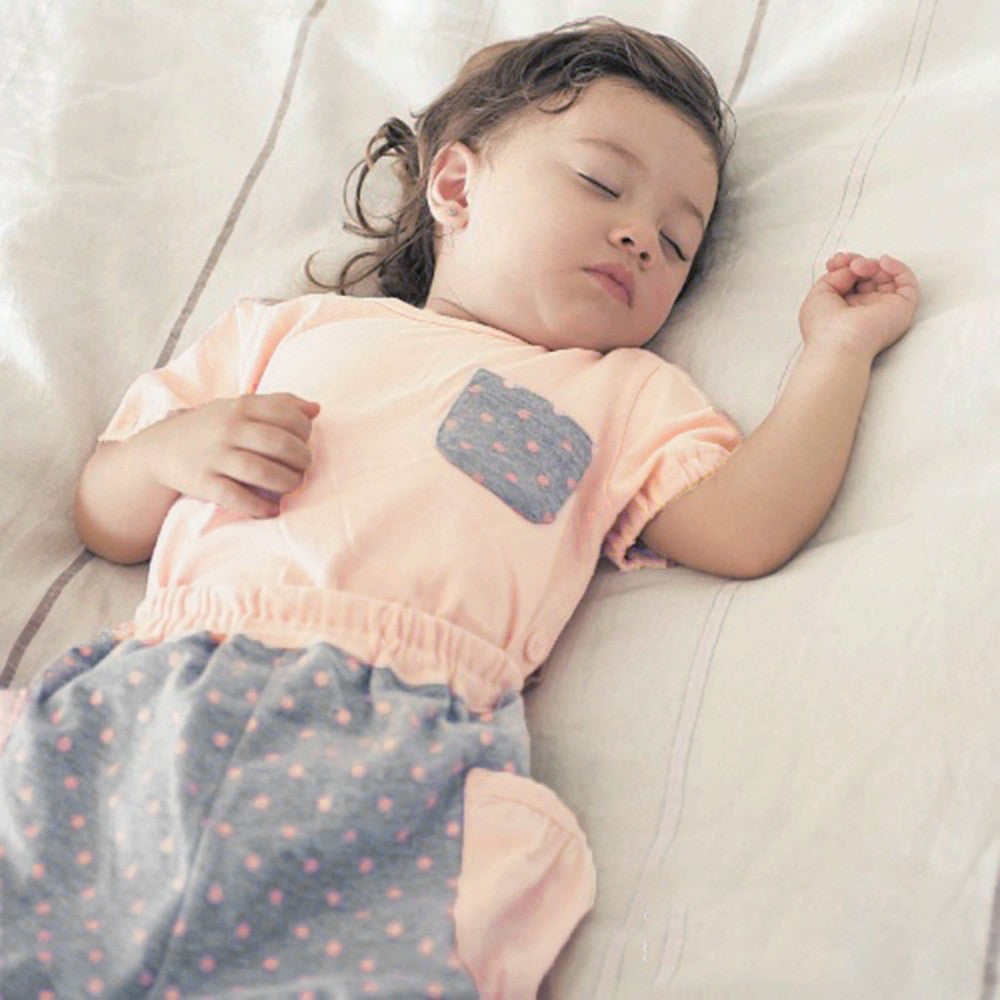 Spot Pattern Baby Girls Sleepwear