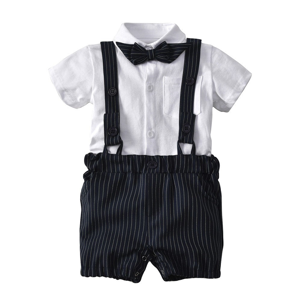 Bowtie Striped Baby Boys Outfit set (3 colors)