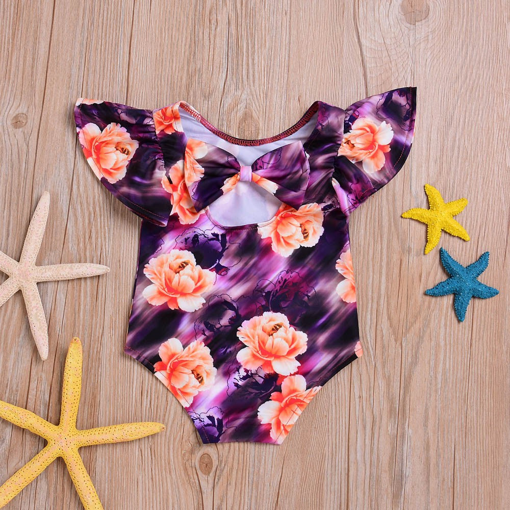 Floral Baby Girls Swimwear