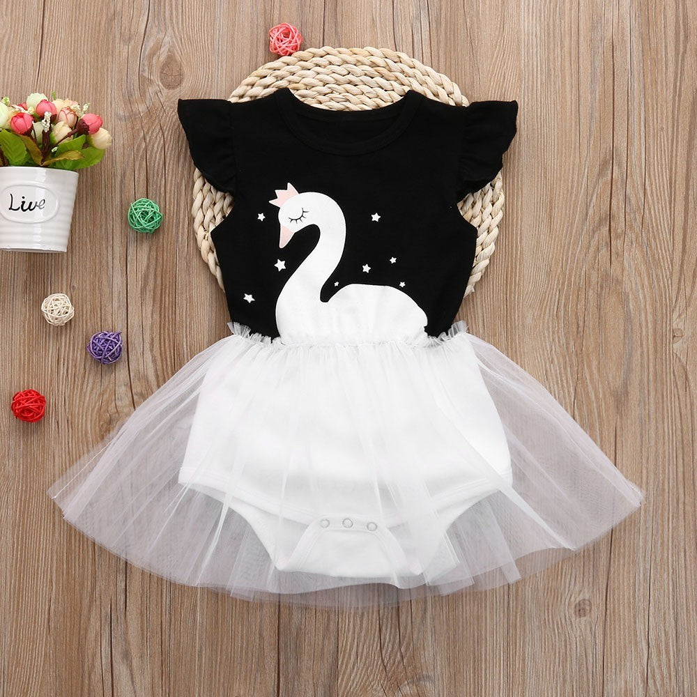 Swan Baby Girls Dress