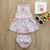 Stylist Floral Baby Girls Outfit Set