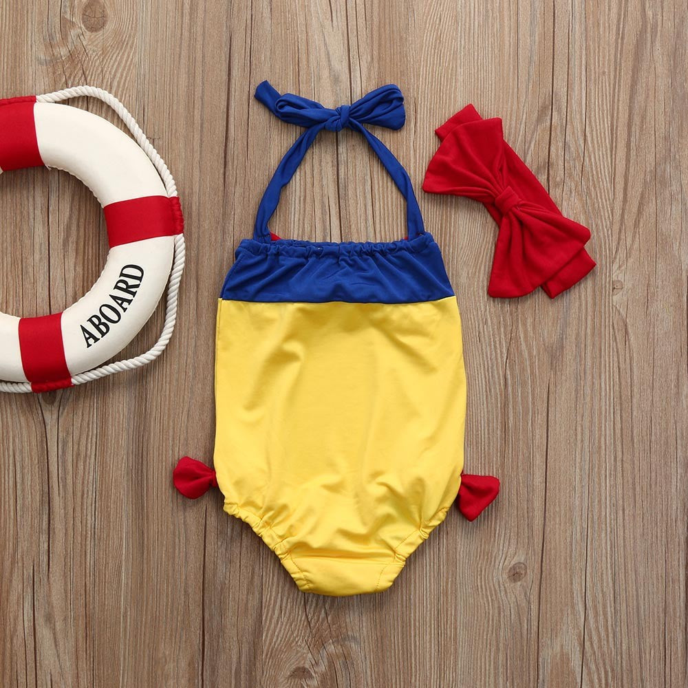 Bowknot Straps Baby Girls Swimwear