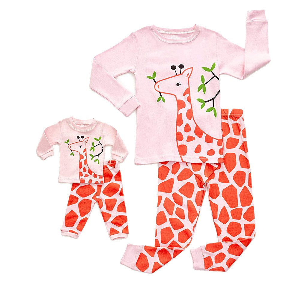 Giraffe Girls & Doll Sleepwear Set