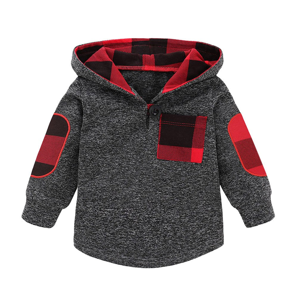 Baby Boy Casual Soft Hoodie