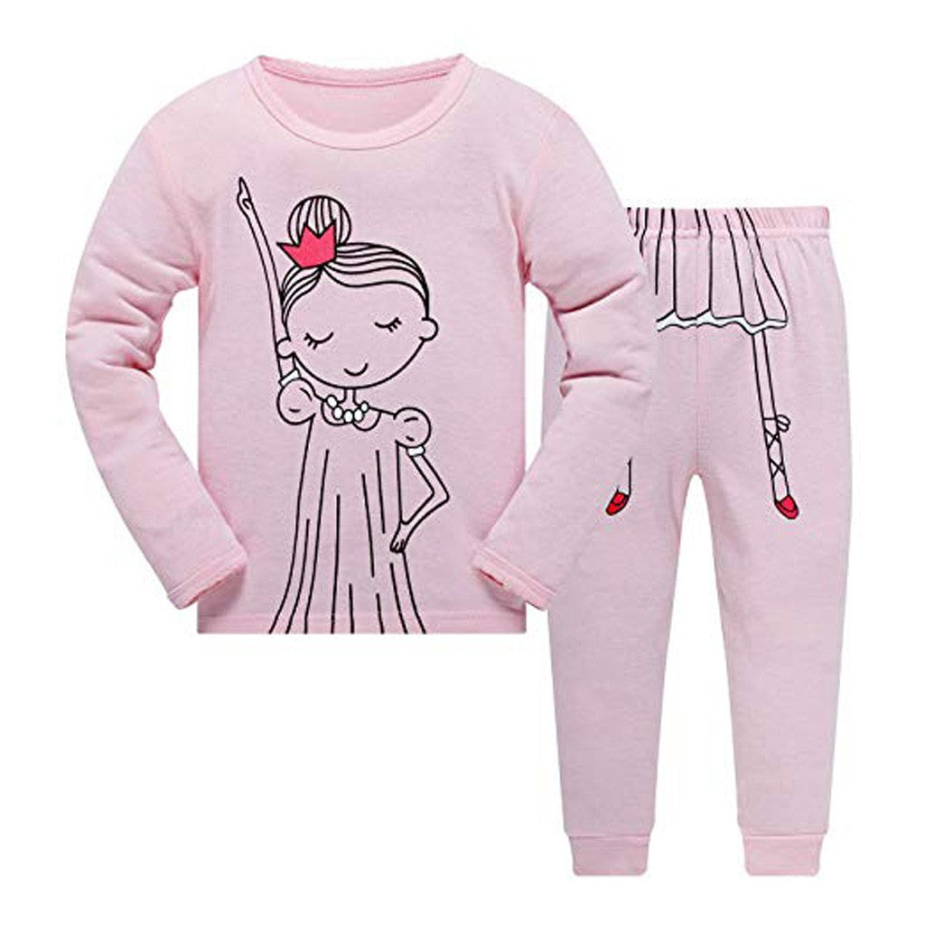 Cartoon Girls Sportswear Set