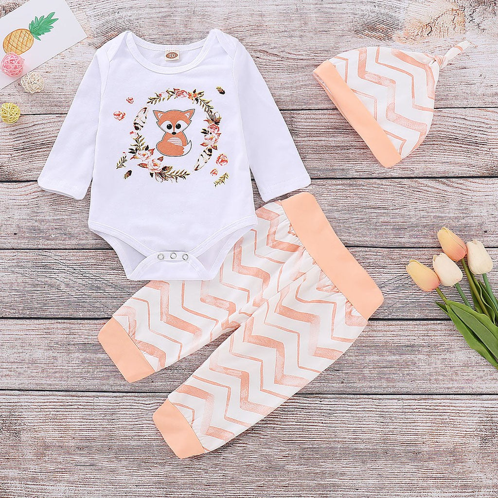 Cartoon Unisex Baby Sportswear Set