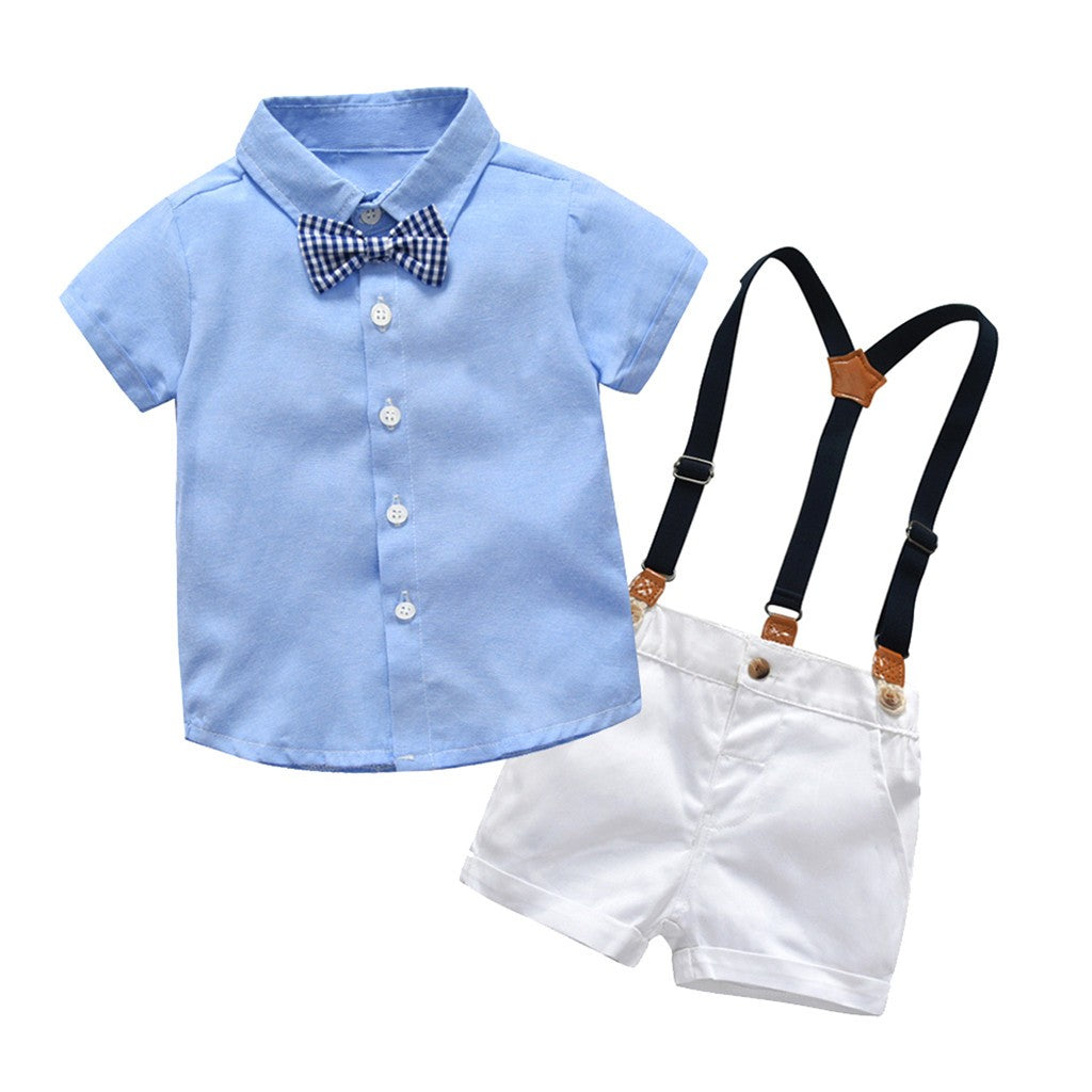 Gentleman Bow Tie Baby Boys Outfit set