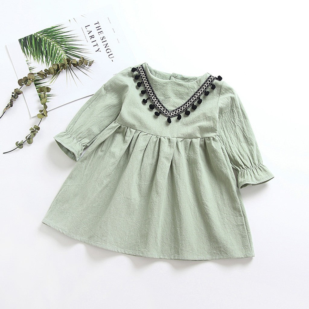 Stylish Baby Girls Dress (3 colors)
