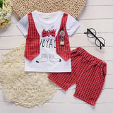 Casual Bow Baby Boys Outfit (3 colors)