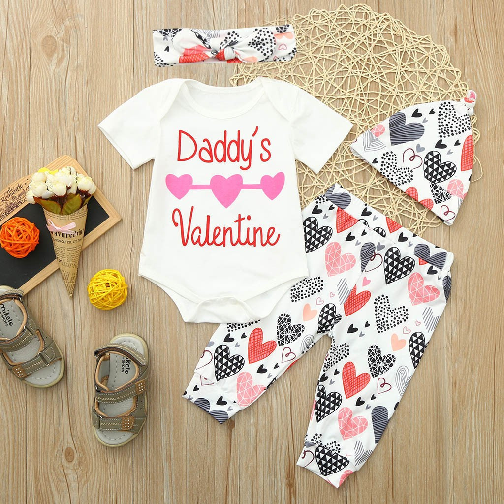 Valentine's Baby Girls Outfit Set