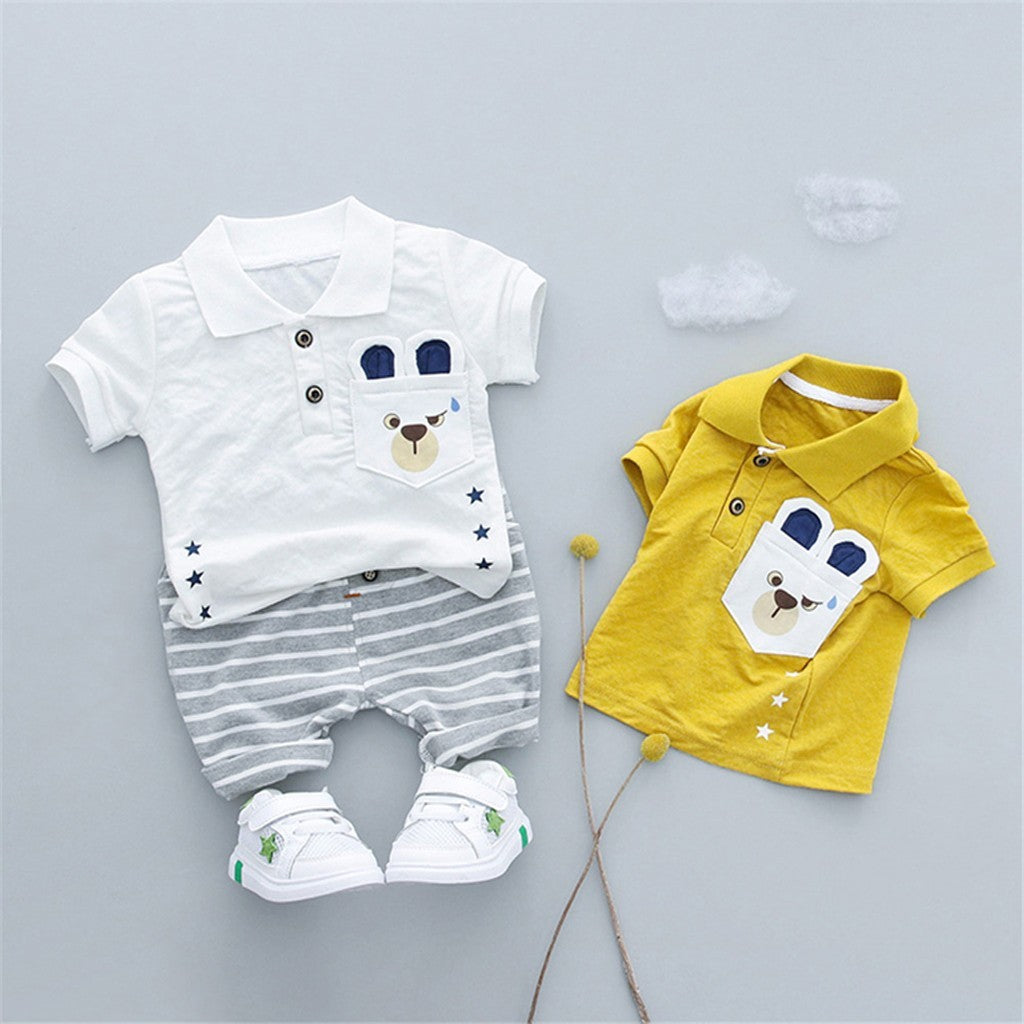 Toddler Polo Baby Boys Outfit (2 Colors)
