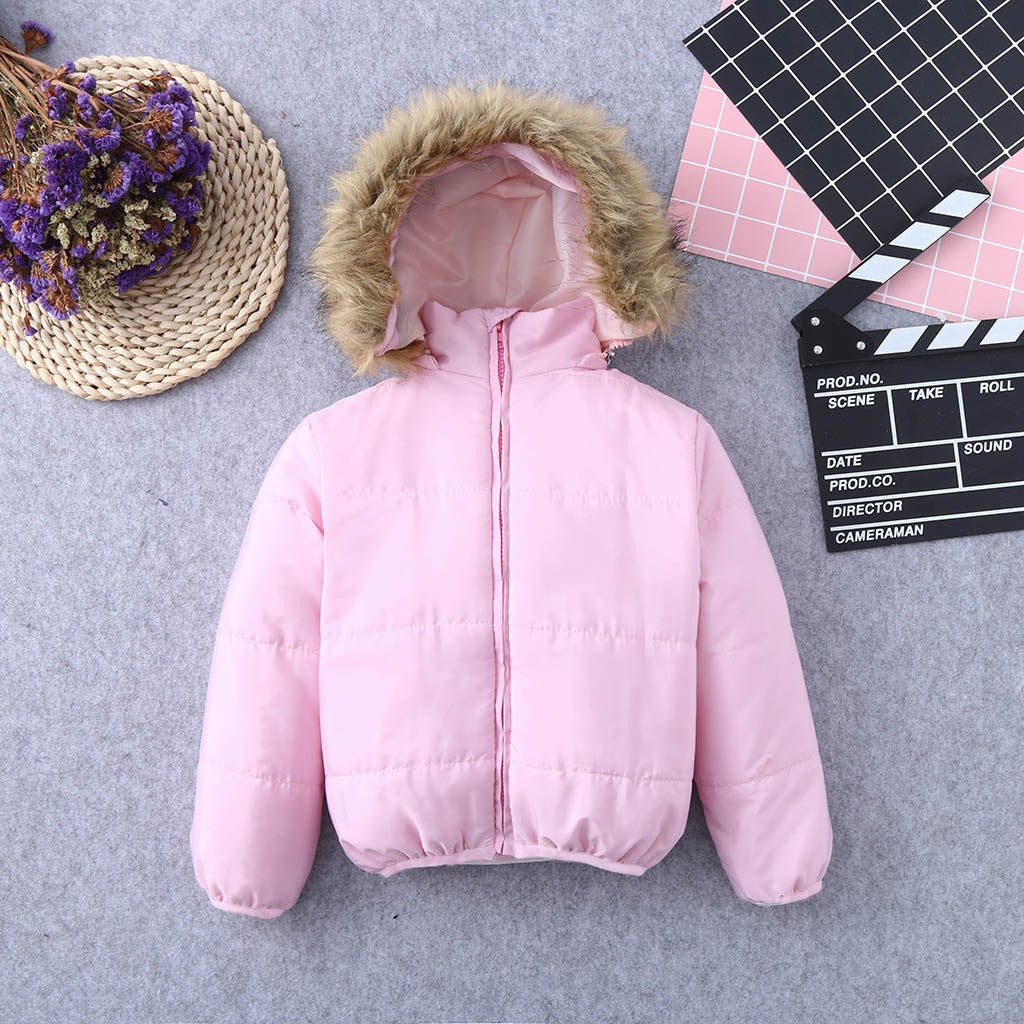 Baby Girl Faux Jacket (pink/white)