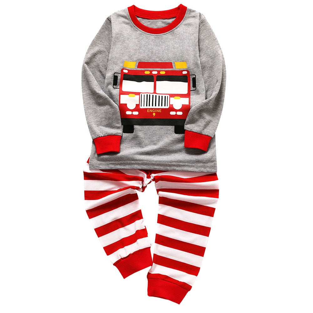 Firetruck Pajama Boys Sleepwear Set