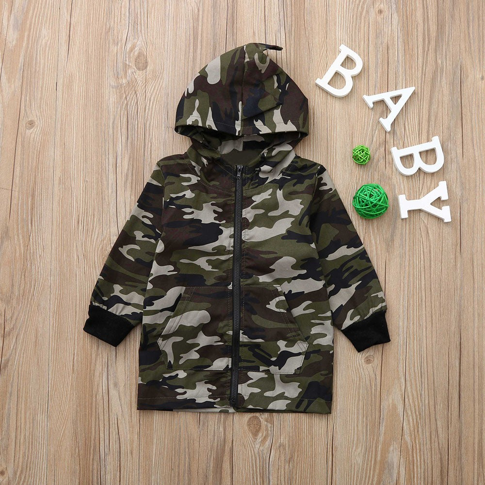 Baby Boy Dinosaur Military Jacket